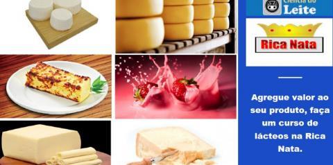 Rica Nata promove outro super curso de leite e derivados! Agregue valor ao seu produto!