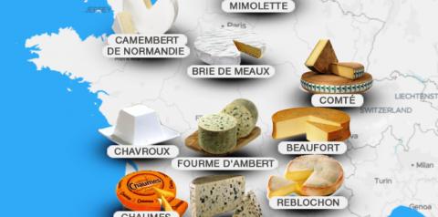 Top 10 queijos franceses – parte 1