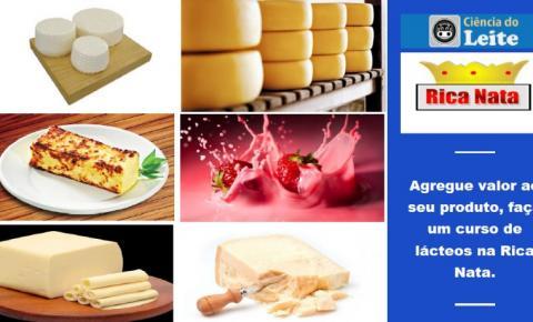 Rica Nata promove outro super curso de leite e derivados! Agregue valor ao seu produto! De 20 a 24 de Janeiro de 2020