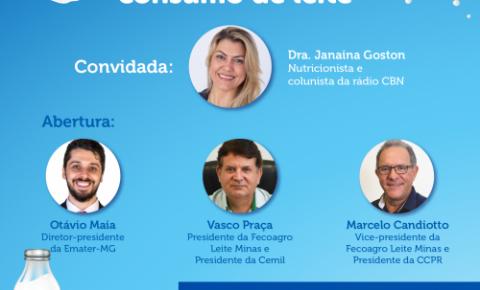 Emater-MG promove seminário virtual em comemoração ao Dia Mundial do Leite